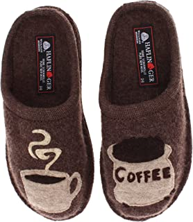 Unisex Coffee Wool Slippers