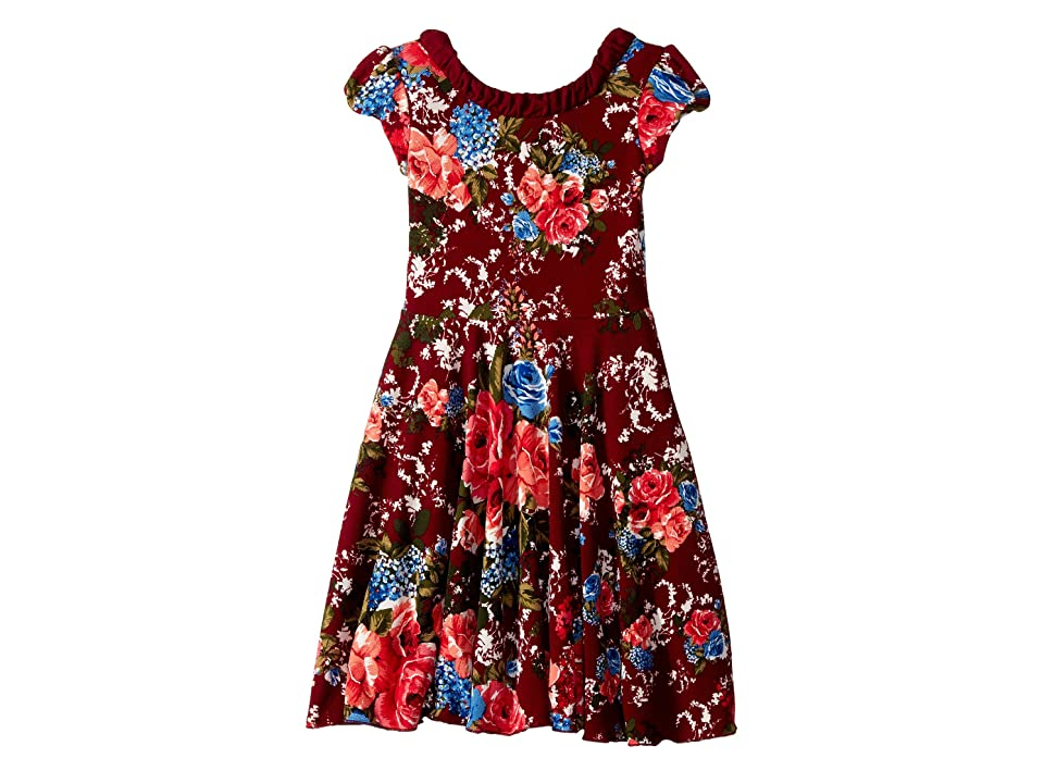 fiveloaves twofish Into the Woods Dress (Big Kids) (Cranberry) Girl