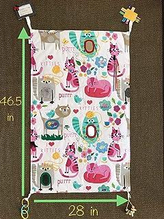 Baby Gift, New Parents Gift, Sensory Blanket I LOVE KITTIES 1