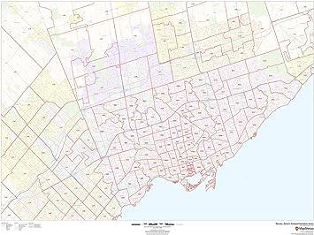 Toronto Canada Zip Code Map Amazon.: Toronto, Ontario Postal Code Forward Sortation Areas