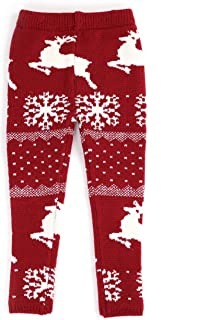 christmas knitted leggings
