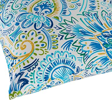 Greendale Home Fashions Set of 2 Outdoor 19x12-inch Rectangle Throw Pillows, Paisley