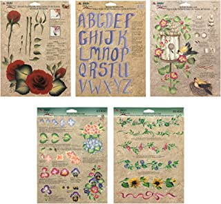 Donna Dewberry One Stroke Painting Instruction Reusable Teaching Paint Folk Art Double Sided Sheets Pack of 5