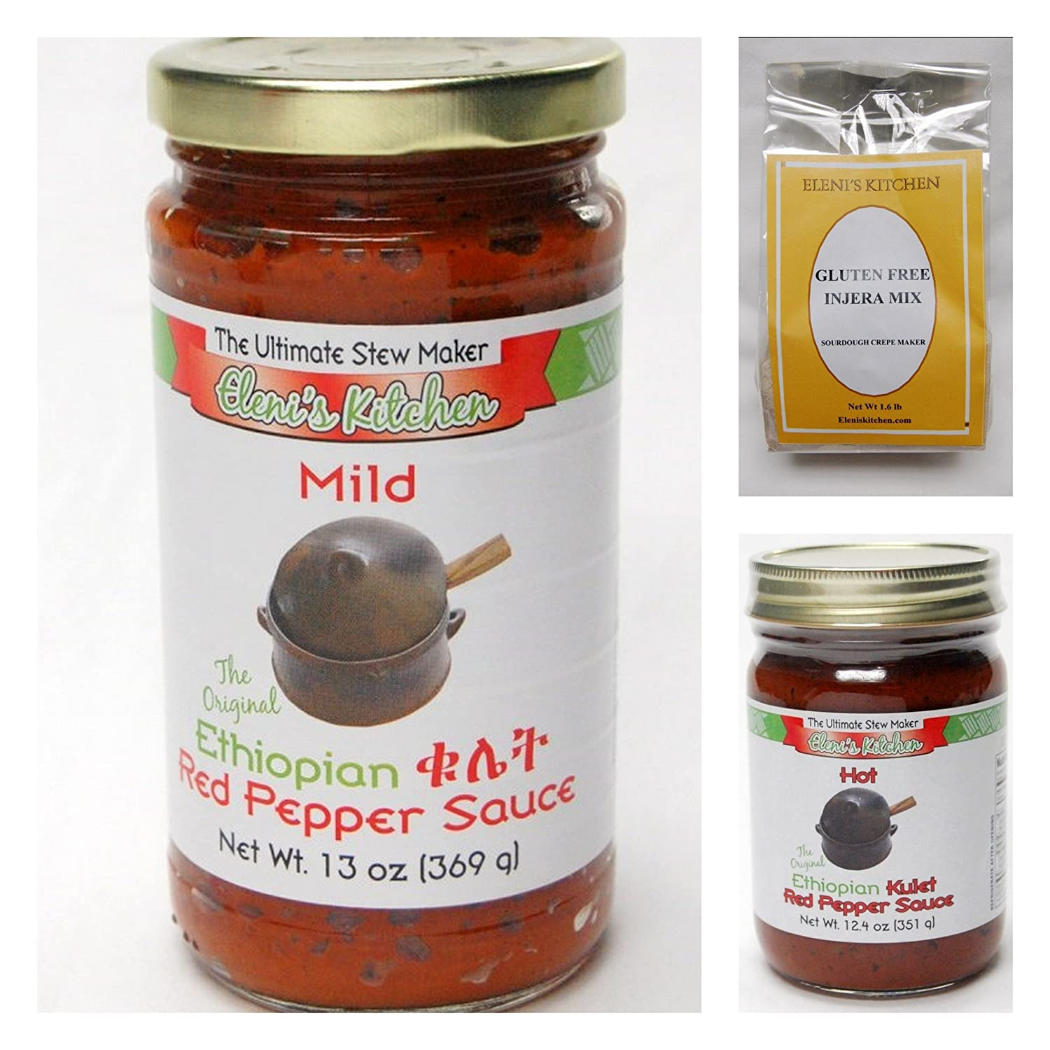 Animer and price revision Eleni's Ethiopian Gluten Free Sampler Pack Inj Sauce 1 Jars Limited time cheap sale - 2