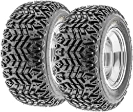 Set of 2 SunF G003 all-Terrain UTV & Golf-Cart Turf Tires 23x10.5-12, 4 Ply, Tubeless - Lawn & Garden