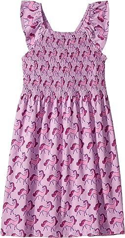 Precious Unicorns Smocked Dress (Toddler/Little Kids/Big Kids)