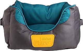 GiGwi Place Soft Bed Canvas, Green/Grey, Medium, 8319