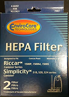 Riccar RF15, Simplicity S24 Vacuum Cleaner Filter 983