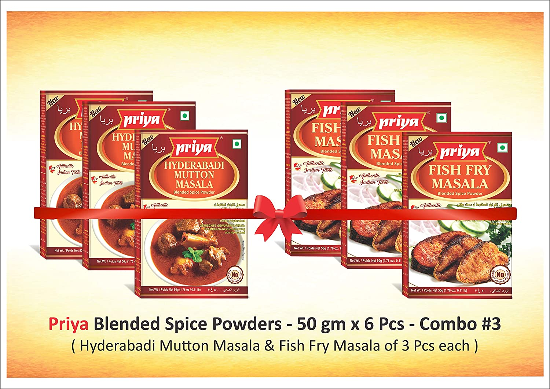 Priya COMBO - Mutton Masala Fry Fish 3 x Special Campaign 50gm free