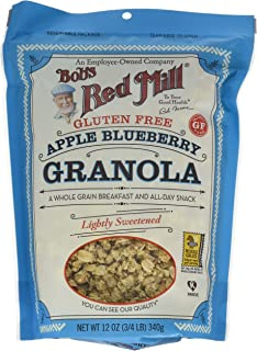 Bob's Red Mill Gluten Free Apple Blueberry Granola, 12 oz (Pack of 4) (Package May Vary)