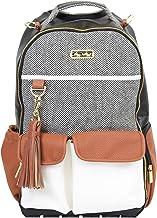 کوله پشتی کیف کیسه ای Itzy Ritzy Diaper - کیف بزرگ پوشک کوله پشتی رئیس ظرفیت ، دارای جیب های بطری ، تعویض پد ، کلیپ های پرسه زن و تسمه های کوله پشتی راحت ، قهوه و کرم