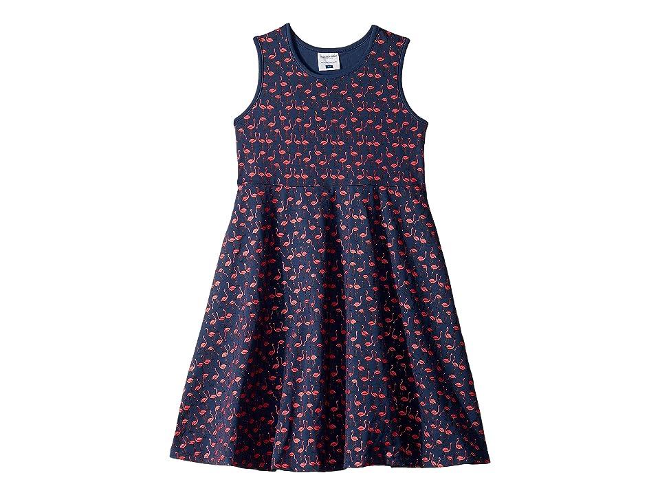 Toobydoo Skater Dress (Toddler/Little Kids/Big Kids) (Flamingo Print) Girl