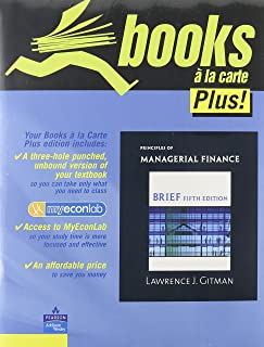 Principles of Managerial Finance, Brief Edition