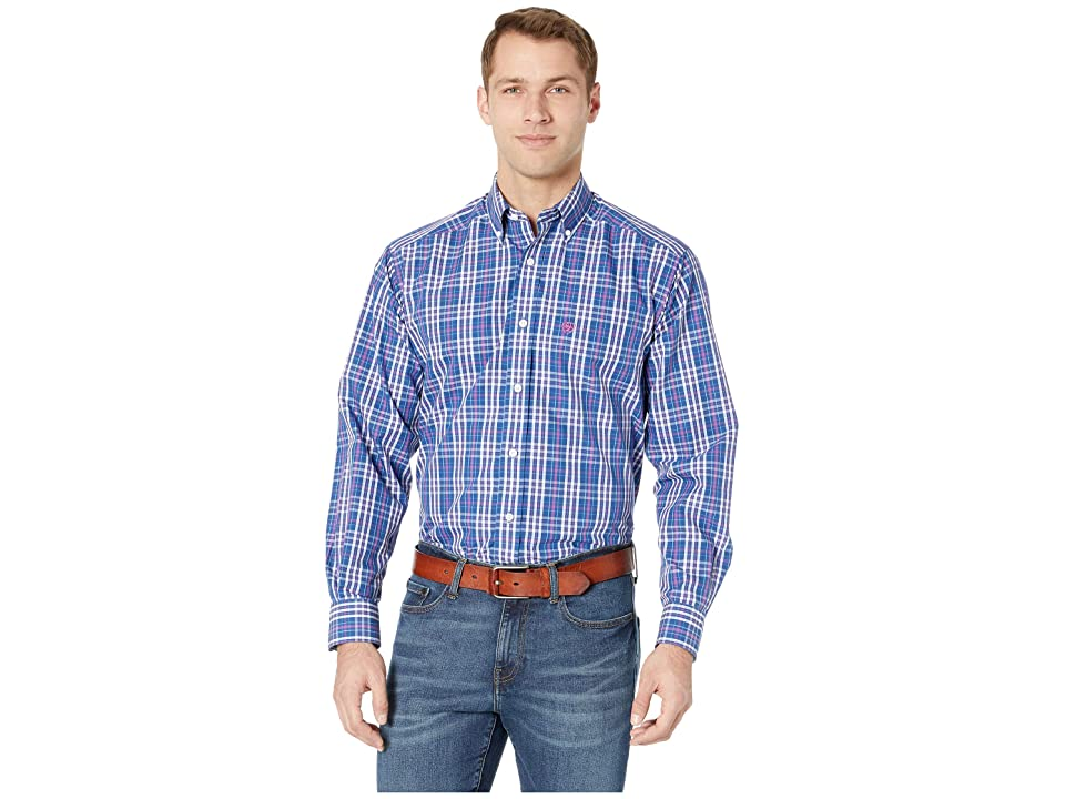 Ariat Wrinkle Free Kadinger Shirt (Royal) Men