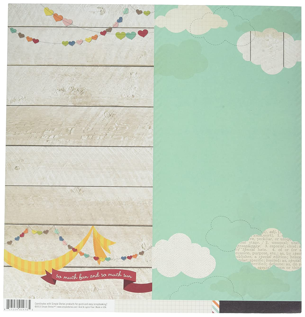 Simple Stories I Heart Summer Double-Sided Elements Cardstock 12