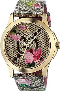 Gucci Womens Analogue Classic Quartz Watch with Leather Strap YA1264038