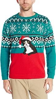 Alex Stevens Men's Fairisle Kitty Ugly Christmas Sweater