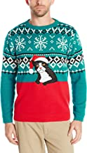 Alex Stevens Men's Fairisle Kitty Ugly Christmas Sweater