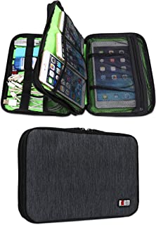 BUBM Double Layer Travel Gear Organizer / Electronics Accessories Bag (Two layers-Black)