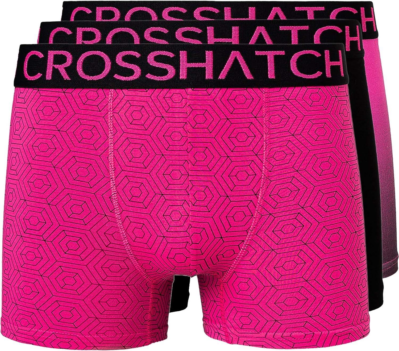 Crosshatch TRESCO Juego de 3 calzoncillos para hombre
