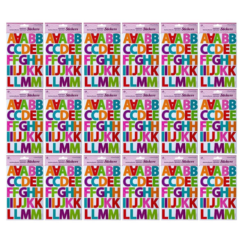 CTG Alphabet Stickers Multicolor 24 Pieces
