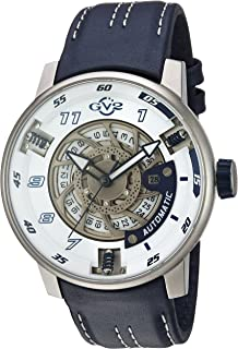 GV2 by Gevril Motorcycle Sport Mens Swiss Automatic Blue Leather Strap Watch, (Model: 1301)