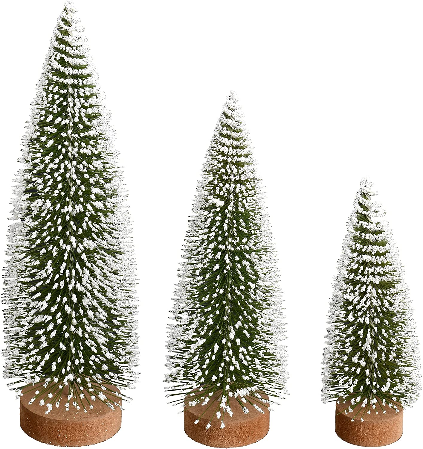 Super Special SALE held Vickerman sold out Glitter Oval Pine Artificial 3 of Set Christmas-Trees