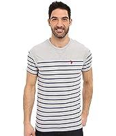 U.S. POLO ASSN. - Solid & Stripe V-Neck T-Shirt