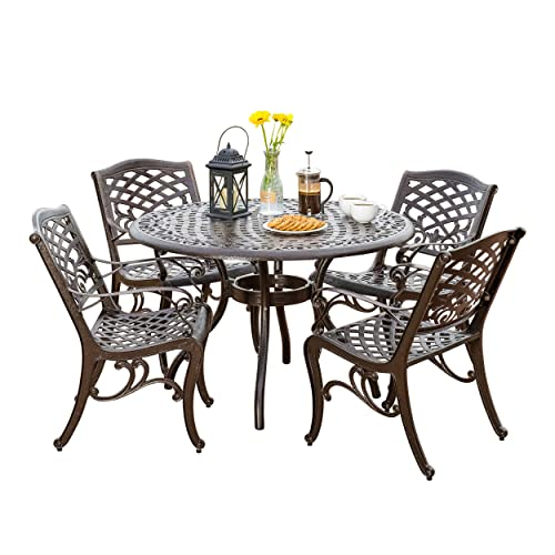 Wrought Iron Patio Dining Set Amazon Com