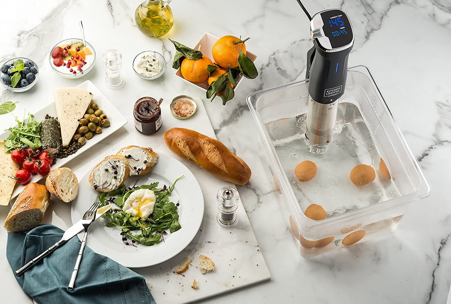 Users can easily use Kitchen Gizmo Sous Vide Immersion Circulator with just a few simple steps