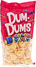 Yellow Dum Dums Color Party - Cream Soda Flavored - 75 Count Bag - 12.8 ounces - Includes Free How To Build a Candy Buffet Guide