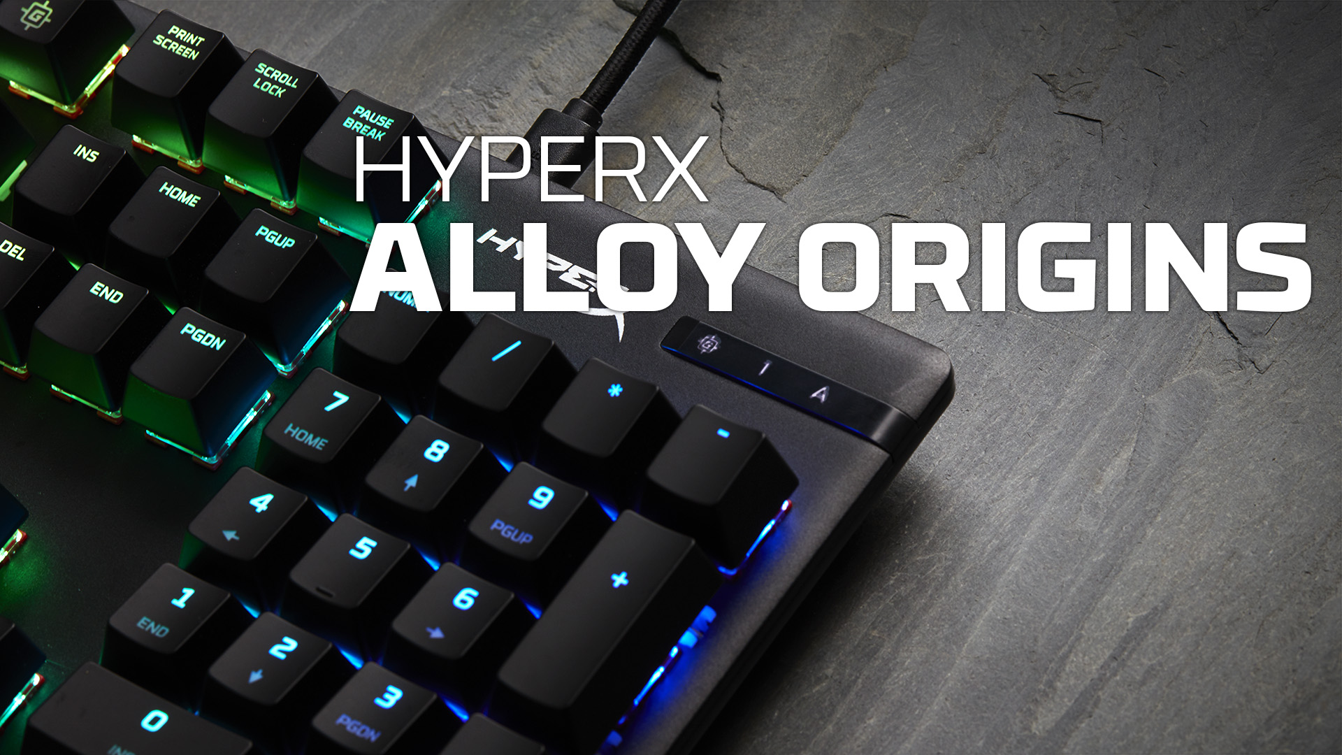 HyperX Alloy Origins - Mechanical Gaming Keyboard, Software-Controlled Light & Macro Customization, Compact Form Factor, RGB LED Backlit - Linear HyperX Red Switch