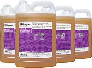 Clear Consumption Natural Lavender Foaming Hand Soap Refill 4 Gallons - Made from USDA Organic Vegetable Oils - For Commercial Foaming Soap Dispenser