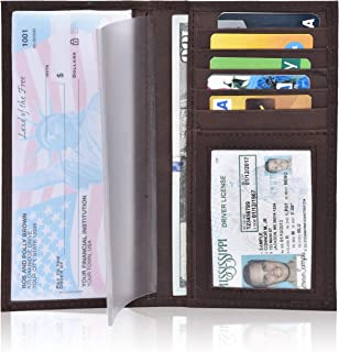 Checkbook Cover for Duplicate Checks - Standard Register Wallet for Men & Women