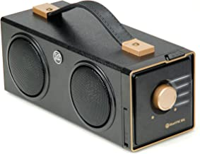 GOgroove BlueSYNC BXL Retro Bluetooth Speaker Portable Boombox with 3.5mm AUX Input, USB Flash Drive Music MP3 Playback, Easy Bluetooth Pairing, 12W Peak Full Range Audio, Built-in Carrying Handle