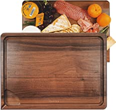 ÉLEVER Cutting Board - Cutting Boards for Kitchen, Cheese Board | 2in1 Reversible USA Premium Wooden Chopping & Charcuterie Board | Juice Well, Deep Groove Serving Tray | Wedding Housewarming Gifts