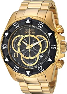 Invicta Men's Excursion Quartz Watch with Stainless-Steel Strap, Gold, 26 (Model: 24265)