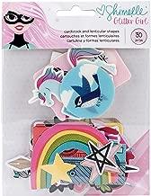 American Crafts Shimelle Glitter Girl 30 Piece Holographic Foil Ephemera