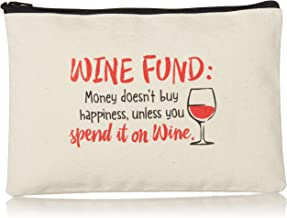 product image for Imagine Design Relatively Funny Wine Fund: Money Doesn't Buy, Canvas Bag, Red/Black/White