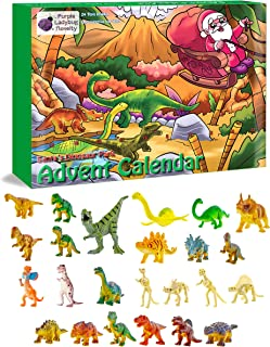 Purple Ladybug Novelty Dinosaur Toys 2019 Advent Calendar for Kids, with 24 Different Dinosaur Figurines Including a Large T-Rex! Great Christmas Countdown Advent Calendar for Boys or Girls!