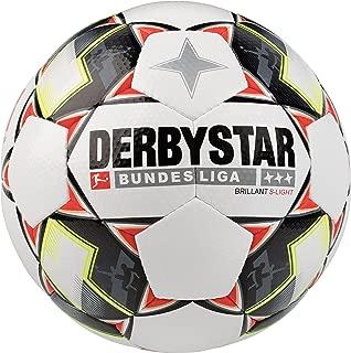 DERBYSTAR Brilliant Children's Bundesliga S Light Football, Children's, 1852300123, weiß Schwarz Rot, 3 (EU)