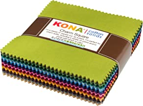 Kona Cotton Dusty 101 Palette Charm Square 101 5-inch Squares Charm Pack Robert Kaufman CHS-563-101
