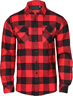 9 Crowns Men's Lightweight Hoodie Plaid Flannel Shirt Charcoal
