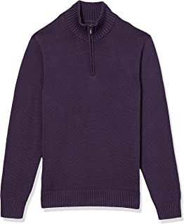 Amazon Brand - Goodthreads Men's Soft Cotton Quarter Zip Sweater