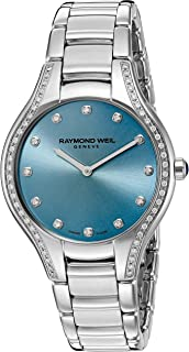 Raymond Weil Women's Noemia Swiss-Quartz Watch with Stainless-Steel Strap, Silver, 18 (Model: 5132-STS-50081)
