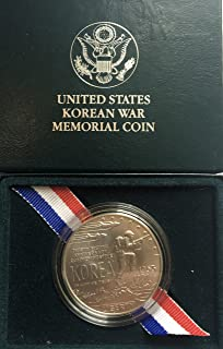 1991 D Korean War Memorial Coin Comes in Box From US Mint Dollar Proof US Mint
