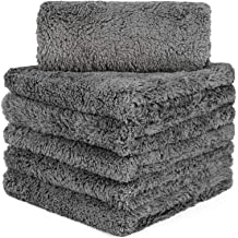 CARCAREZ Microfiber Towels for Cars - 16x16 inch - Plush Edgeless Microfiber Towel - 6 Pack Car Microfiber Towel