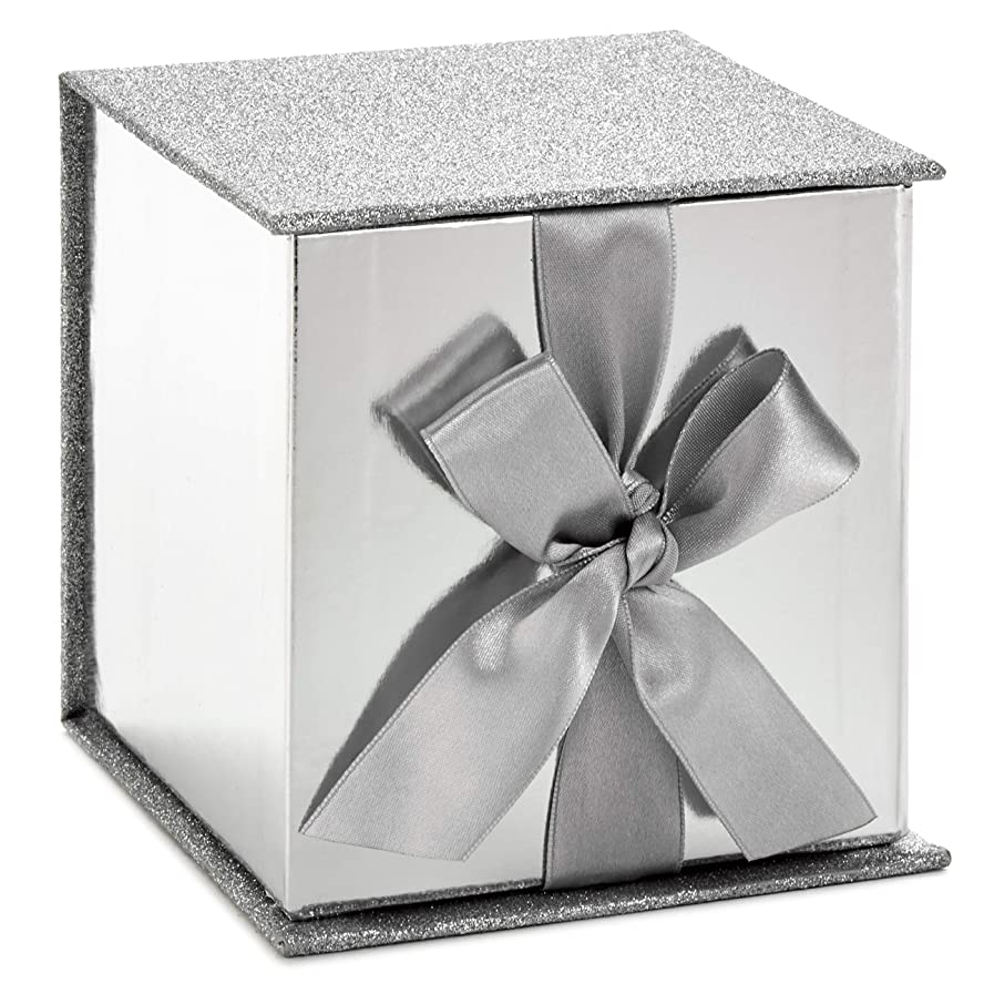 Hallmark Signature Small Gift Box with Fill (Silver Glitter) ii59532792
