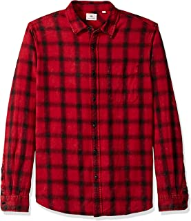 Men's Colton Long Sleeve Washed Plaid Button Down