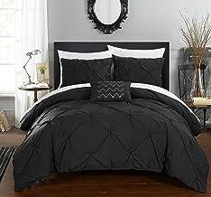 طقم اغطية سرير جايا 4 قطع من شيك هوم، لحاف مقس كينغ، بلون بيج Queen Duvet DS2447-AN
